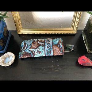 Vera Bradley Java Blue Glasses Pouch